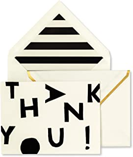 Kate Spade New York Thank You Card Set of 10 with Blank Interior and Envelopes (Tossed Letters)