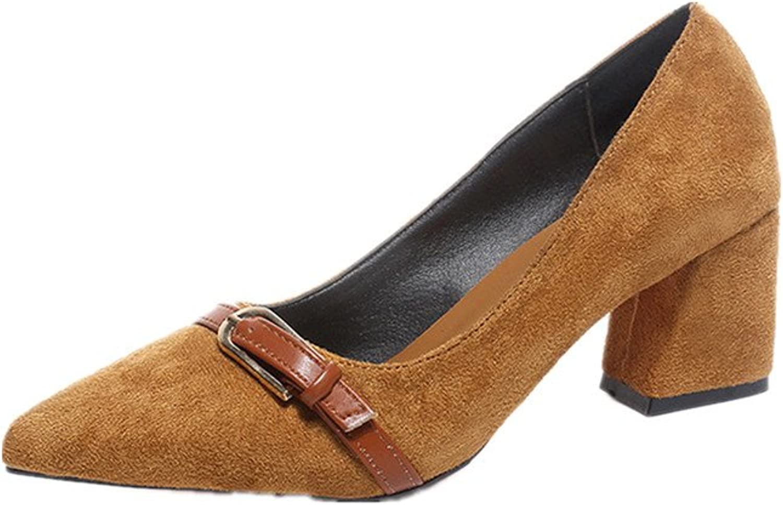 Charles WesT Women's New Classic Elegant Multi-Functional High Heels Dress Wild Flat shoes