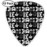 Sherly Yard Gamepad Plektren 12er Pack - 3 verschiedene Größen Inklusive dünn, mittel und schwer
