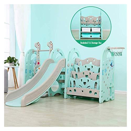 RVTYR Slide Interior y Columpios for el Juego de niños pequeños multifunción Estructuras con aro de Baloncesto Puede ser Utilizado con estanterías y Piscinas de Bolas tobogan Infantil