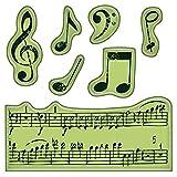 klammert Sich an Mini Inka-Music Notes Briefmarken -