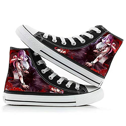 Polyer Tokyo Ghoul Canvas Shoes Kaneki Ken Cosplay High -Top Lace up
