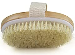 HIGHEST QUALITY - Unlike other brushes Wholesome/ Glenor Beauty's brush is made of the highest quality materials only; The handle is made of smooth polished wood and the 100% Natural Bristles are of the finest grade HOOK & TRAVEL BAG INCLUDED - We in...