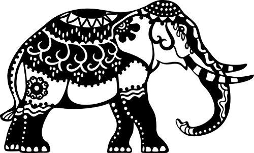 Marabu 0288000000001 - Silhouette Schablone, Ergebnisse mit Negativ - Effekt, PVC frei, wieder verwendbar, zum Sprühen, Walzen und Spachteln mit Textil- und Acrylfarben, DIN A4, Indian Elephant