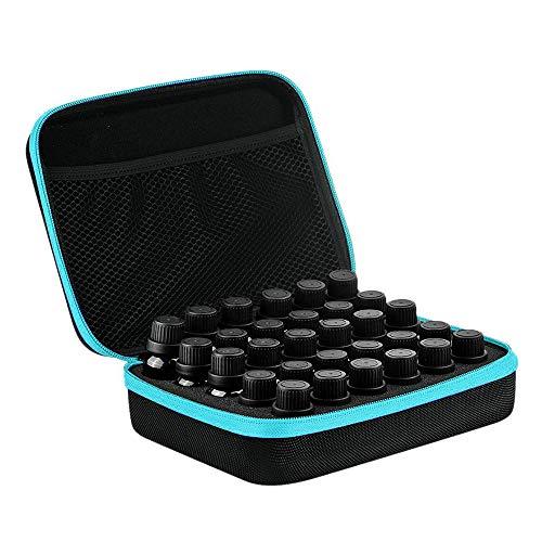 etherische olie opslag doos, draagbare etherische olie case met 30 slots kan onderbrengen 15 ml etherische olie flessen Blauw