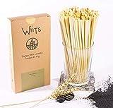 Wiits | Pajitas Naturales de Trigo | Biodegradables y compostables | Caja 100 Unidades | Sin Gluten