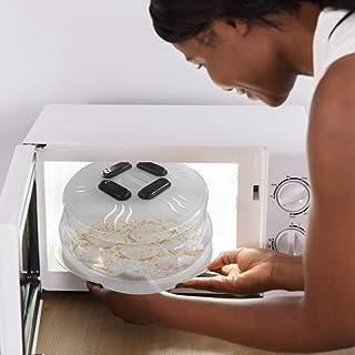 S-tubit Cubierta de Placa de microondas, Cubierta magnética para microondas, Tapa de Cubierta Anti-Salpicaduras de microondas, Protector contra Salpicaduras de Alimentos con Salidas de Vapor, Amiable