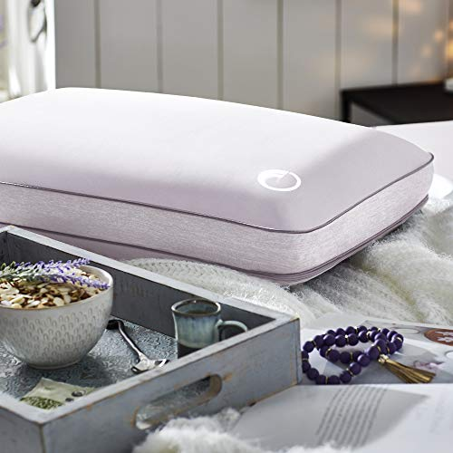 Comfort Revolution Aromatherapy Lavender Essential Oil-Infused Memory Foam Pillow, Standard, Purple