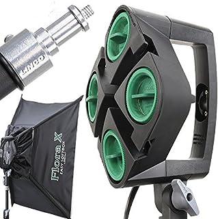 米国LINCO社製 撮影照明セット 全米プロカメラマン御用達 4灯ライトソケット 三脚スタンド ソフトボックス 5500k Ra90