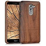 kwmobile Huawei Honor 6X / GR5 2017 / Mate 9 Lite Hülle - Handy Schutzhülle aus Holz - Cover Case Handyhülle für Huawei Honor 6X / GR5 2017 / Mate 9 Lite - Dunkelbraun