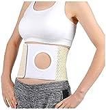 ADAHX Cinturón de Hernia de ostomía elástica médica, Soporte de estoma Unisex con Abertura de estoma para Bolsa de colostomía para prevenir la Hernia parastomal para Pacientes de colostomía