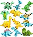GeyiieTOYS Badespielzeug Schwimmendes Poolspielzeug Dino Figur Badewanne Wasserspielzeug für Babys und Kleinkinder ab 6 Monaten - 12 Stücke