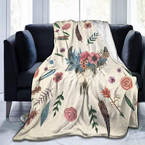 Popcorn In Spring Vintage Rose Bouquet Pflanzen Throw Blanket Superweiche Bequeme Micro Fleece Fuzzy Blanket dekorative Decke