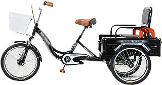 Jlxl Vuxna Tricycles För Män Vikning Trike 20 Tums Trehjuliga Kryssningscyklar Cykel Med Stor Storlek Korg Höjdjusterbart ...