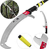 KITGARN Telescopic Pole Saw 6-24 Foot Extendable Telescopic Landscaping Pole Saw with 2-Foot
