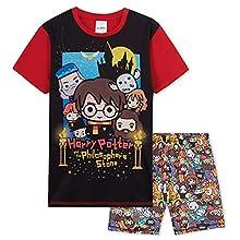 HARRY POTTER Pijama Niño, Pijamas Niños De Manga Corta, Regalos para Niño De 7-14 Años (Multicolor, 13-14 años, 13_Years)
