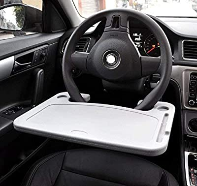 Cutequeen JIANXIN Trading car Eating/Laptop Steering Wheel Desk, Black