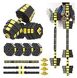 EIIDJFF Mancuernas Ajustables Mancuernas De Pesas Libres Multifuncionales con Biela De Diseño Octogonal Juego De Mancuernas Ajustables 2 En 1, 66 Libras (Talla : 44lbs)