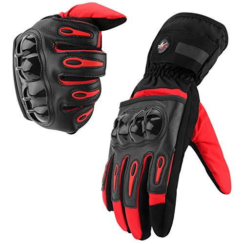 Guantes de Moto, Pantalla Táctil en los Dedos, Guantes de Moto de Carreras, para Bicicleta ATV BMX MTB, Escalada, Motocross y Otros Deportes al Aire Libre L