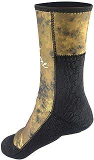 Zhengowen, Calcetines de Buceo Calcetines de neopreno de 5mm Beach botines zapatos pegados a ciegas cosido antideslizante Traje de neopreno Botas Calcetines Aleta de natación Calcetines de agua de playa de Neopr