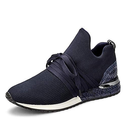 La Strada 1804 Damen Sneaker low mit Schnürung Textilfutter und Schlangenmuster, Groesse 41, rlau