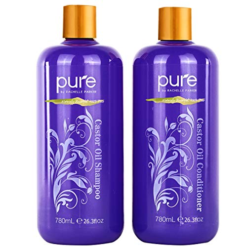 Ultra Volumizing, Growth Stimulating Organic Castor Oil Shampoo and Conditioner Set. Huge 26.5 oz...