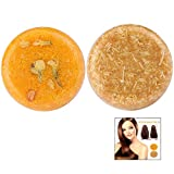 iPobie 2 Pièces Shampoing Solide Bio,Savon pour Cheveux (Jasmin + Miel) pour Essences Végétales Naturel...