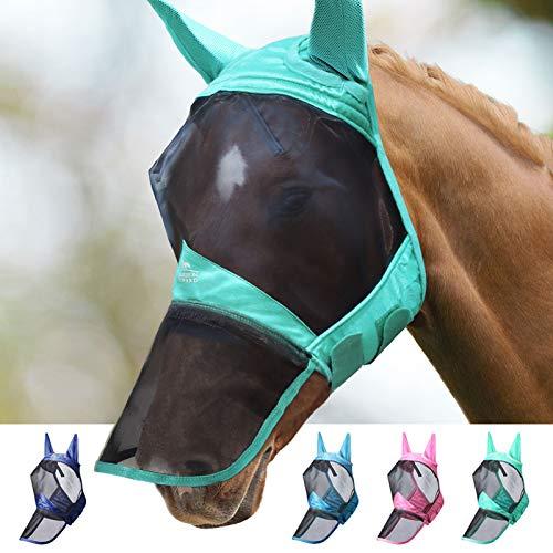 Harrison Howard CareMaster Pro Luminous Fliegenmaske Lange Nase mit Ohren UV-Schutz für...