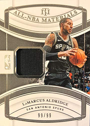 2019 Panini National Treasures LaMARCUS ALDRIDGE All-NBA Jersey Basketball Card - Game Worn Jersey Patch Serial# 99/99 (Only 99 Exist-Last One Printed 1/1) - San Antonio Spurs