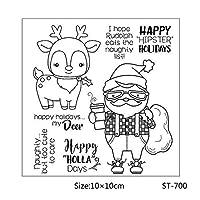 クリアスタンプヒップスターサンタクローススタンプペーパークラフトカードクリスマス見積もりスタンプ