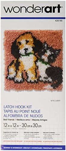 "Wonderart Hoot Latch Hook Kit, 12"" X 12"""