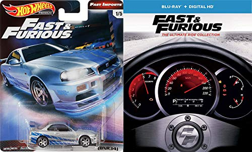Insane Street Racing Fast & Furious 1-7 Collection Super Charged Edition / 2 / Tokyo Drift / Five + Car Set (Blu-ray +