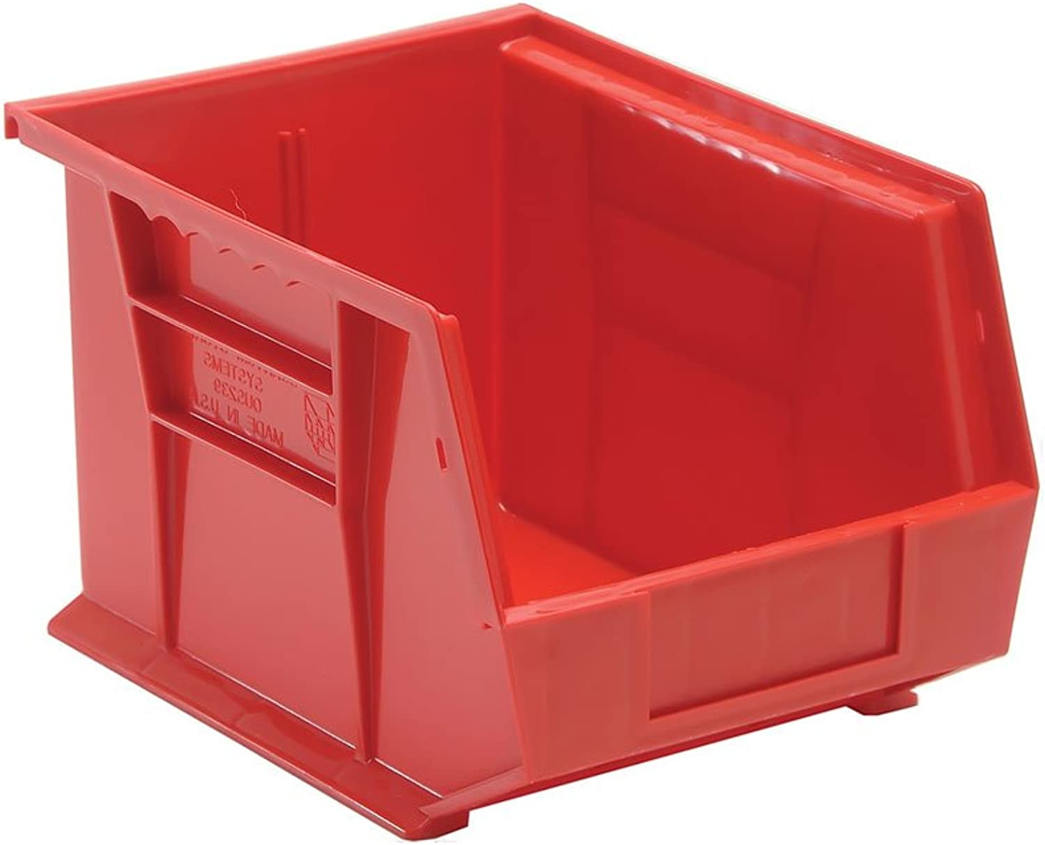 Quantum Storage Systems Ultra Stack And Hang Bin 10-3 4 Lx 8-1 4 Wx 7 H - Red Pack Of 6