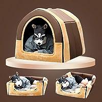 ペットベッド 大型犬猫 ペットハウス 犬 猫 ぐっすり眠れる 耐噛み 暖かい あったか ペットハウス 滑り止め 保温防寒 通年利用 ふわふわ 秋冬 猫犬小屋 柔らか 休憩所 寒さ対策 犬猫兼用 犬用マット