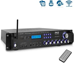 Pyle Bluetooth Hybrid Amplifier Receiver - Home Theater Pre-Amplifier with Wireless Streaming Ability, MP3/USB/SD/AUX/FM R...