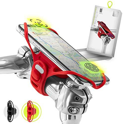"""Bone Collection Pro 4 (4ª Gen) Soporte móvil Bici Compatible reconocimiento Facial, Montaje en Potencia Smartphones Pantalla 4,7"""" - 7.2"""", Soporte móvil Bici Ultra Ligero, bicis de Paseo y Carretera"""