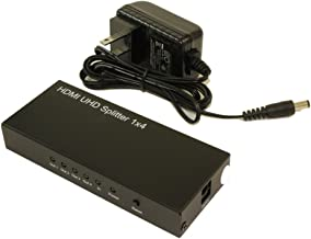 MyCableMart 4 Port HDMI Amplified Splitter (Video/Audio) 3D, 4Kx2K @60Hz/4:4:4/HDCP2.2