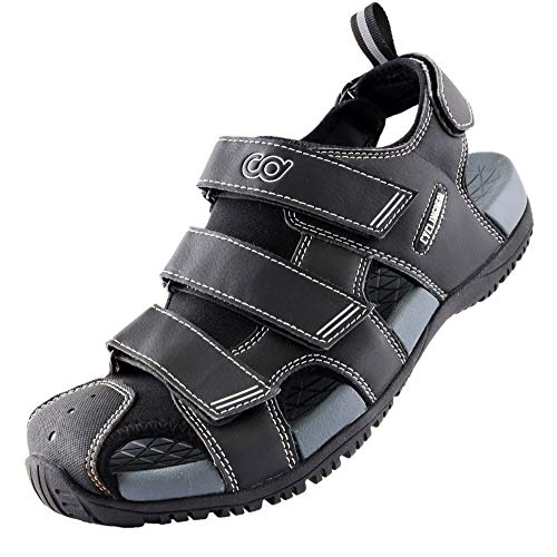 CyclingDeal Unisex Bike Sandals - Indoor Outdoor Trekking Hiking Bicycle Cycling Clip Compatible with Shimano SPD - with Removable Cleat Recess Cover - Great for Men & Women - Size 3738