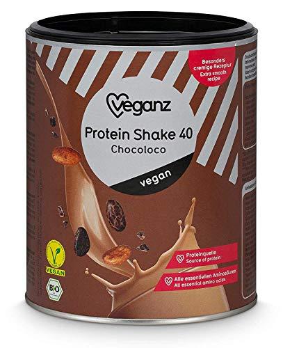 Veganz BIO Vegan Protein Shake Chocoloco - Veganistisch eiwitpoeder zonder soja met 43% plantaardig eiwit - 3 x 300g Eiwitpoeder chocolade