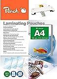 Peach PP580-02P - Fundas para plastificar (A4, 80 micras, 125 unidades)
