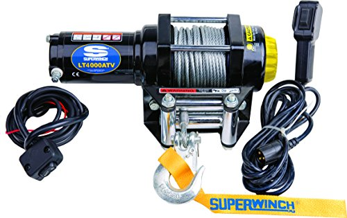 Superwinch 1140220 Black 12 VDC LT4000ATV Winch
