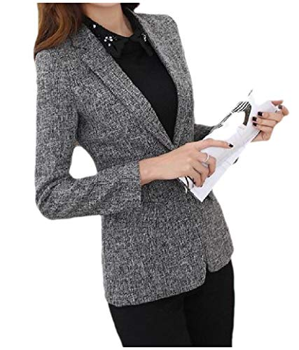 Freely dames OL One Button Silm Fit Long-Sleeve Plus Size Zakelijke Blazer