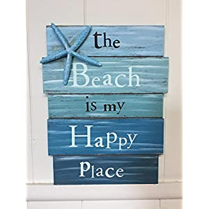 514cz9Sag7L._SS300_ Wooden Beach Signs & Coastal Wood Signs
