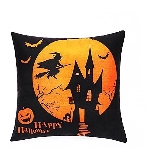 Fossen Funda de Almohada Funda de cojín Halloween Pumpkin Series Funda de Almohada, Funda de Almohada Duradera, Funda de Almohada de Halloween
