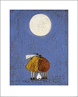 A Moon To Call Their Own by Sam Toft Art Print Poster, Overall Size: 15.75x19.75, Image Size: 11.75x15.25