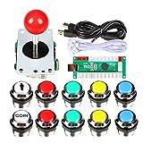 EG STARTS Classic Arcade Kit fai da te USB Encoder per PC Joystick + 8 modi Stick + Cromato LED illuminato Pulsante 1 giocatore & Coin pulsa …