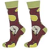 soxo Damen oder Mädchen Socken | 11 Lustige Verschiedene Motive | Lange Söckchen für Frauen | Grössen 35-40 (Birnen)