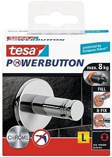 tesa 德莎 德国进口 强力按钮通用大号豪华粘钩 镀铬
