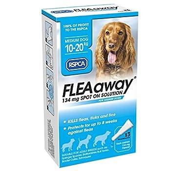 RSPCA FleaAway Solution Spot On pour Chien Moyen, 134 mg