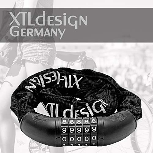 Candado de bicicleta de XTLdesign Germany – Candado estable, ligero, rápido y seguro con nivel de seguridad (A) para MTB bicicleta de carretera BMX, etc.